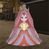 新生FF14ブログ第14回、ひな祭りイベントのマメットエドヴィアがピンク色のプリンに見える
