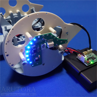週刊ロビクルをつくるブログ第19号、リア左LEDボードを本体に取り付ける