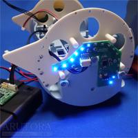週刊ロビクルをつくるブログ第21号、本体にリア右LEDボードを取り付ける