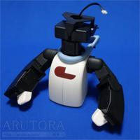 週刊ロビ(Robi)ブログ第61号、ヘッドベース取り付けと動作テスト。首を動かす機構を作る