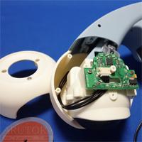 週刊ロビクルをつくるブログ第13号、前輪にフロント左LEDボードを取り付ける