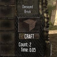 【7DTD】建材としても優秀な粘土系ブロックとDecayed Brickの作り方。土と合わせて個数も倍