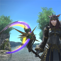 【新生FF14】黒魔の禁書武器「ウェザードルナリスロッド」を交換。意思スペスピのお月様デザイン